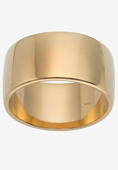 Wedding Band In 18k Gold Over .925 Sterling Silver,
