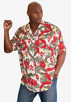 Island Print Rayon Shirt by KS Island™,