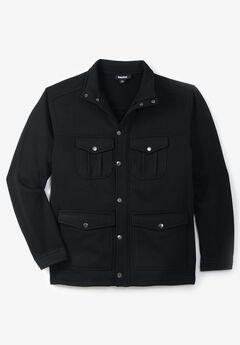 Sweater Fleece Multi-Pocket Jacket,