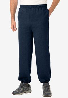 Fleece Sweatpants with Elastic Cuff,