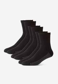 3-Pack 1/4 Length Cushioned Crew Socks,
