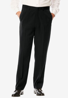 Signature Fit Wrinkle-Resistant Plain Front Dress Pants,