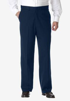 No Hassle® Classic Fit Expandable Waist Plain Front Dress Pants by KS Signature,