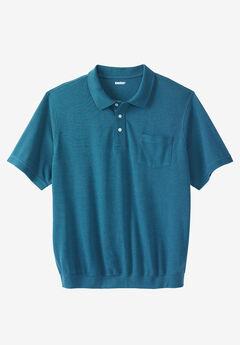 Banded Bottom Pocket Piqué Polo Shirt,