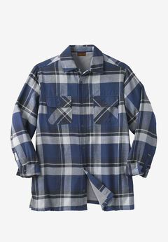 Fleece-Lined Flannel Shirt Jacket by Boulder Creek®,