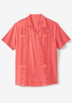 KS Island™ Short-Sleeve Linen Guayabera Shirt,
