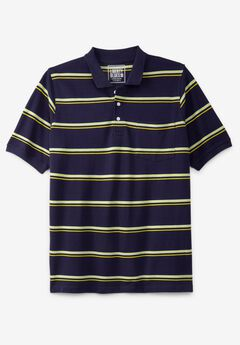 Liberty Blues™ Pocket Piqué Polo Shirt, Solids & Stripes, NAVY STRIPE