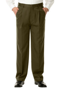 No Hassle® Single-Pleat Expandable Dress Pants by KS Signature®,