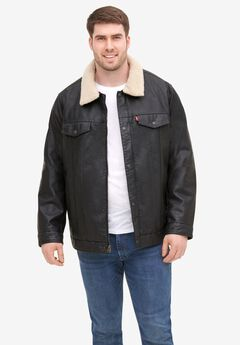 Levi's® Classic Faux Leather Trucker Jacket,