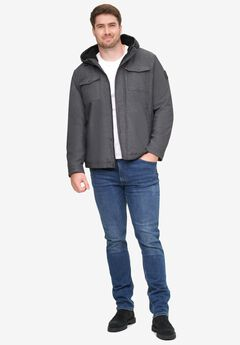 Levi's® Soft Shell Hooded Trucker Jacket with Sherpa Lining,