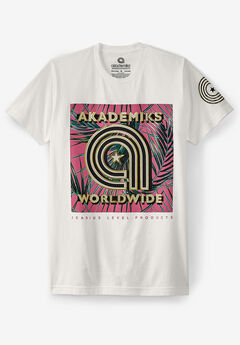 Akademiks® Worldwide Logo Graphic T-Shirt ,