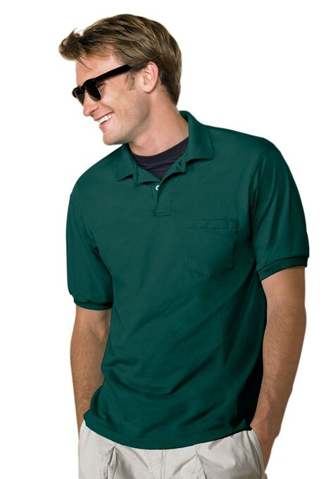 d1609d344ac Hanes® ComfortBlend® EcoSmart® Jersey Polo with Pocket| Big and Tall ...