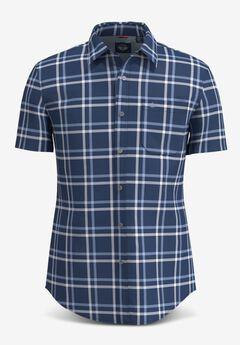 Washed Poplin Short-Sleeve Button Up Shirt,