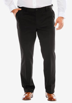 Signature Lux Flat Front Khakis by Dockers®, BLACK