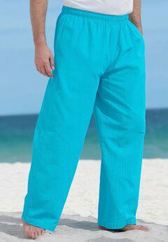 Elastic Waist Gauze Cotton Pants,