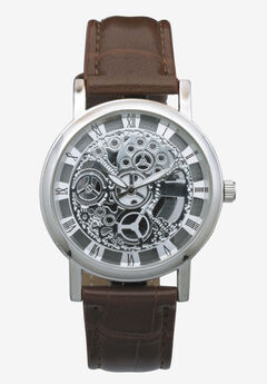 Leather Watch, BROWN