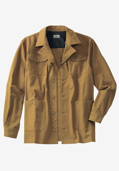 Duck Weave Canvas Barn Shirt Jacket by Liberty Blues®,