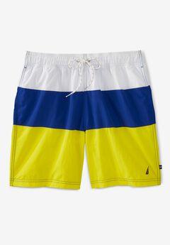 "Nautica® Tricolor 8"" Swim Trunks,"
