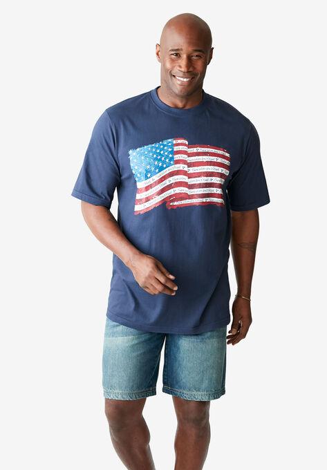 a1dd24795 Liberty Blues® Americana Screen Tee | Plus Size Shirts | Full Beauty