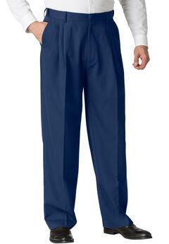 No Hassle® Triple-Pleat Expandable Dress Pants by KS Signature,