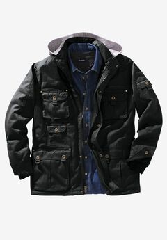 Multi-Pocket Lined Twill Jacket by Boulder Creek®,