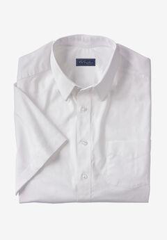 Signature Fit Broadcloth Short-Sleeve Dress Shirt,