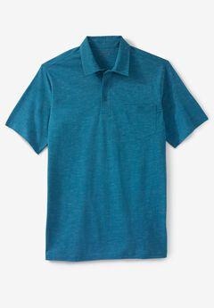 Shrink-Less™  Lightweight Short-Sleeve Polo Tee,