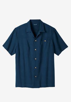 Solid Linen Camp Shirt by KS Island™,