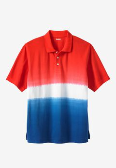 Patriotic Eagle Print Polo,