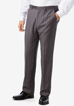 KS Signature® Easy Movement® Plain Front Expandable Suit Separate Dress Pants,