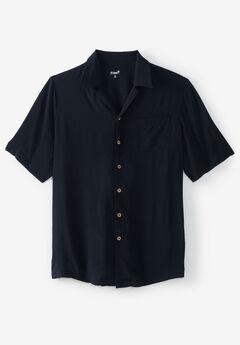 KS Island™ Printed Rayon Shirt, BLACK
