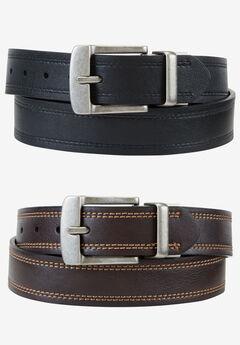 Cut Edge Reversible Belt by Levi's®, BLACK BROWN