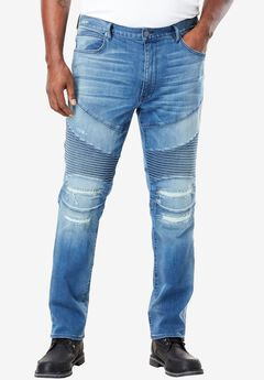 Denim Biker Jeans by MVP Collections®,