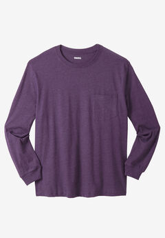 Lightweight Long-Sleeve Pocket T-Shirt ,