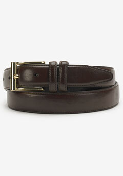 Leather Belt with Classic Stitch Edge,