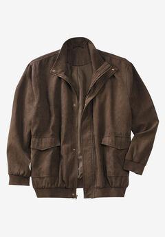 Microsuede Bomber Jacket,