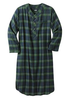 Plaid Flannel Nightshirt,