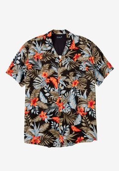 KS Island™ Tropical Caribbean Camp Shirt,