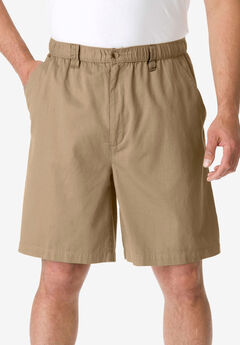 Knockarounds® 8&#34 Full Elastic Plain Front Shorts,