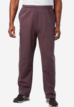 Fleece Open-Bottom Sweatpants,