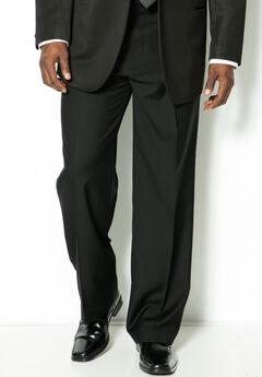 Plain Front Tuxedo Pants by KS Signature,