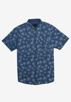 Short-Sleeve Button-Down Woven Shirt by Lee®, INDIGO BLUE