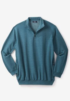 Quarter Zip-Front Fleece Jacket,
