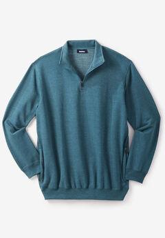 Quarter Zip-Front Fleece Jacket,