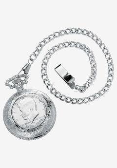 "Silvertone JFK Bicentennial Watch with 13"" Chain,"