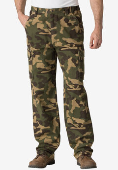Boulder Creek® Side-Elastic Waist Single Pocket Cargo Pants,