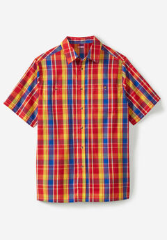 Short-Sleeve Madras Sport Shirt,