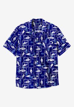 KS Island Tropical Rayon Short-Sleeve Shirt,