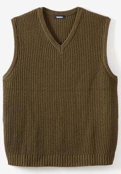 Shaker Knit V-Neck Sweater Vest,