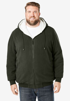 Fleece-Lined Drawstring Hoodie,